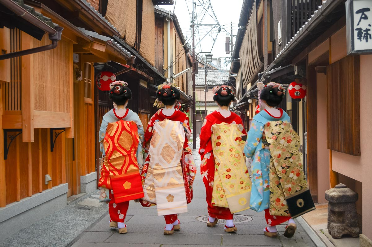 Walk through the geisha quarters of Gion, visit temples & shrines.